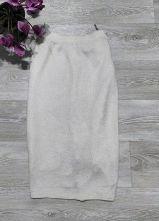 Очень крутая юбка миди кремового цвета+подарок