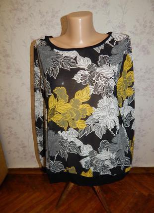 Next блузка шифоновая стильная модная р12