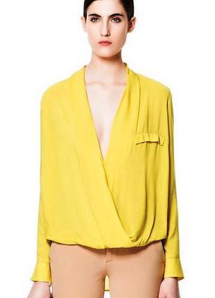 Zara драпированная блуза