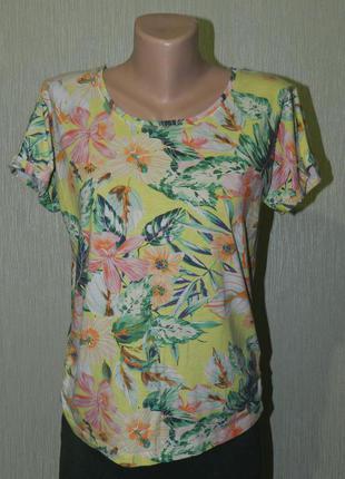 Стильная футболка, тропический принт