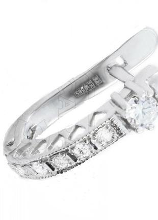 Серьги любовь из белого золота с бриллиантами