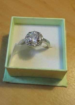 Блеск! кольцо с фианитами позолота 18к