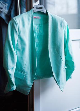 Укороченный пиджак (мята)