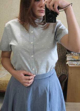 Рубашка в принт с коротким рукавом