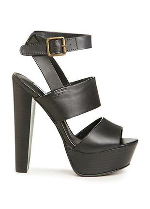 Steve madden оригинал босоножки кожаные на широком каблуке и платформе бренд из сша