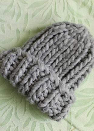 Модная шапка из h&m крупная вязка