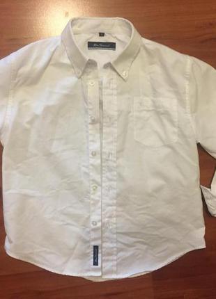 Акция ! крутая белая короткая рубашка ben sherman