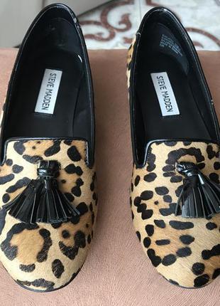 Лоферы steve madden леопард