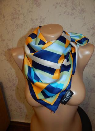 Zara платок атласный стильный модный