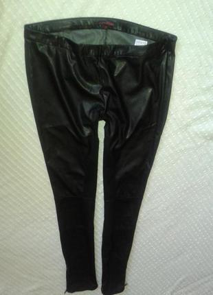 Шикарные брюки скинни из стрейчевой эко кожи от tom tailor,p.29