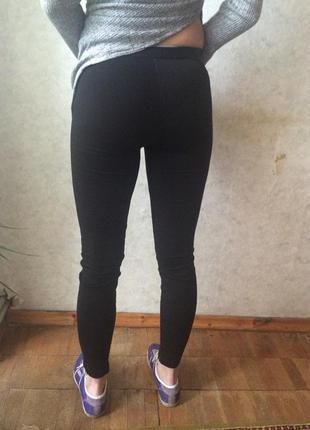 Лосины брюки с кожзамом спереди