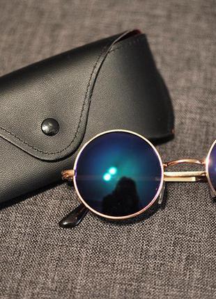 Круглые солнцезащитные зеркальные очки