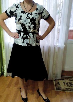 Блуза из льна и юбка к ней, 12 размер