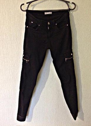 Штаны джинсы zara черные