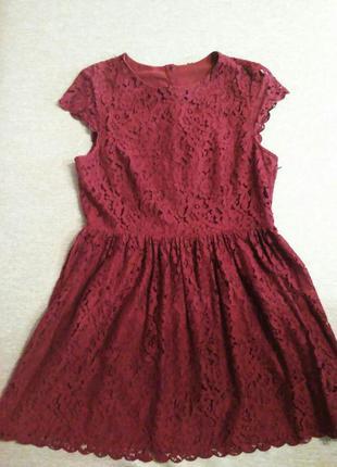 Платье h&m цвета марсала