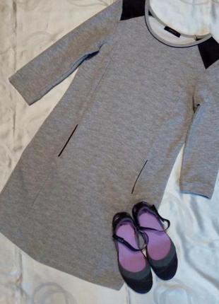Reserved стильное платье-толстовка туника l