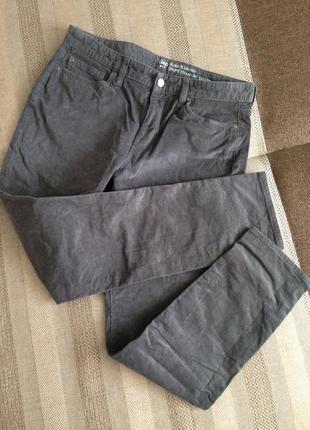 Gap крутые микро вельветовые штаны зауженные к низу