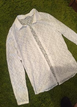 Белая блуза oodji