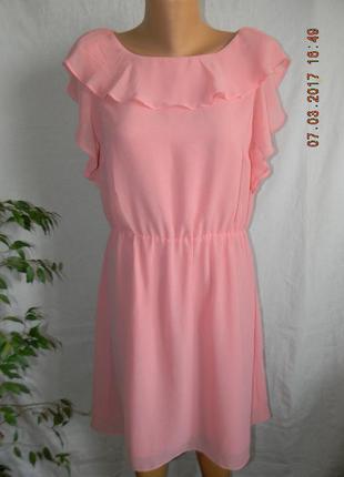 Нежное платье с воланами h&m