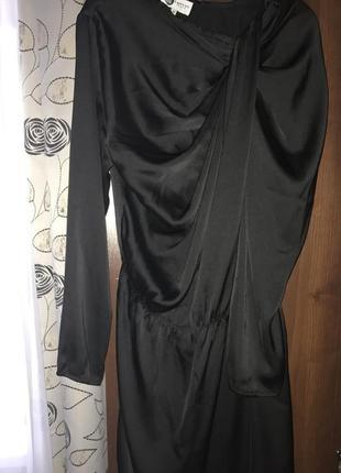 Ассиметричное шелковое платье lanvin