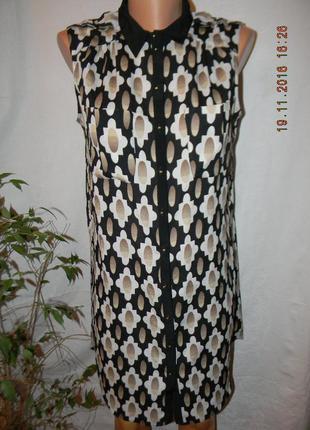 Платье рубашка с принтом river island