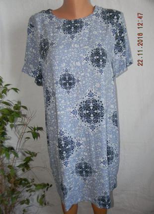 Новое легкое вискозное платье прямого кроя h&m