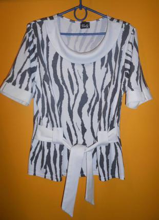 Елегантная  акуратна стильна блуза /кофта/ під поясок