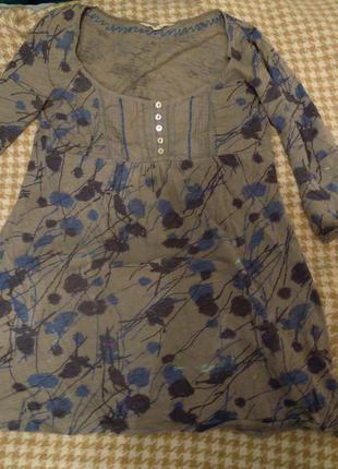 Кофта-туника с вышивкой в этно, бохо стиле