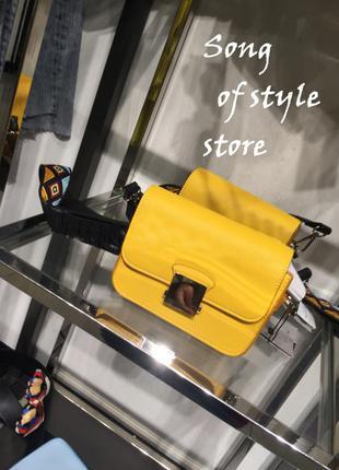 Zara сумка с разноцветным плечевым ремнем