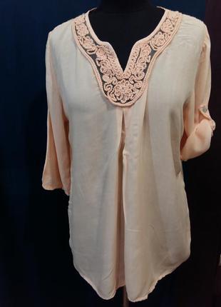 Красивая персиковая блуза today италия