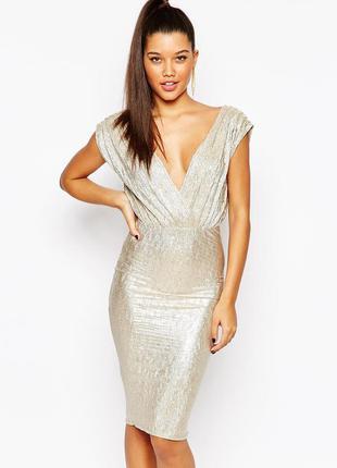 Новое платье  rare london gold metallic dress