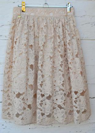 Сказочно красивая юбка гипюр