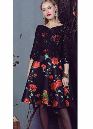 Платье коктейльное юбка солнце  италия sweet miss