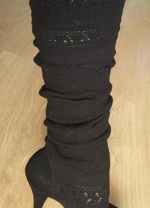 Фирменные,замшевые туфли-чулки mallanee