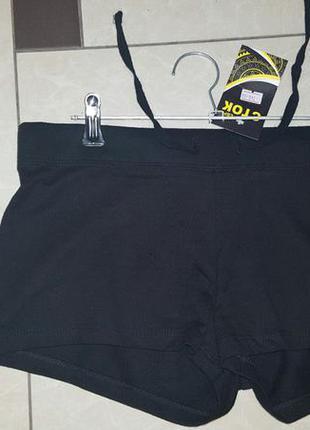 Черные трикотажные шортики h&m - размер с