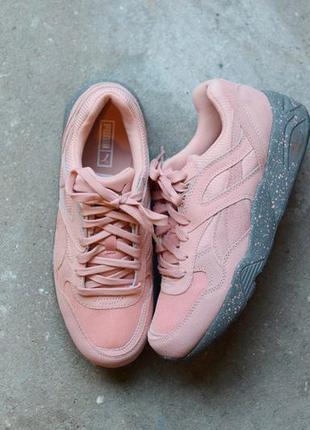 Кроссовки пума розовый серая подошва копия