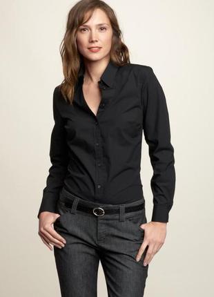Шикарная элегантная черная рубашка блуза от  h&m