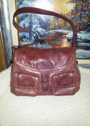 Шикарная натуральная кожаная сумка - 100% натуральная кожа - suzy smith