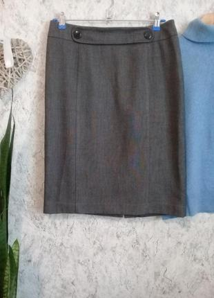 Юбка карандаш из мягкой ткани приятного серого цвета р.46-48 от m&s