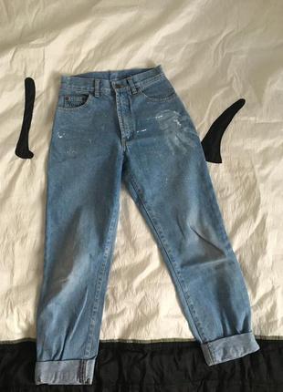 Mom jeans ( высокая посадка , мамаджинсы)