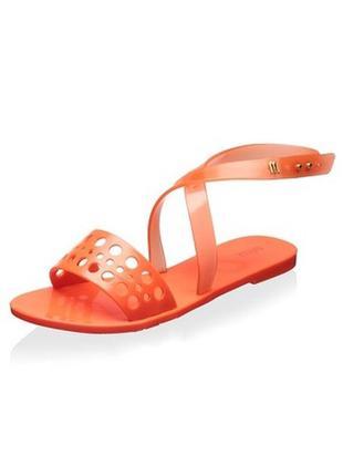Melissa оригинал сандалии босоножки с запахом карамели силикон бренд из сша р.40-41