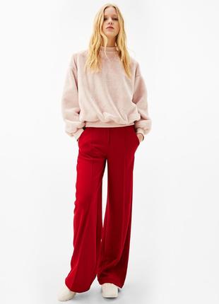 Красные брюки bershka р xs