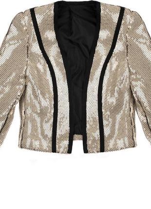 Пиджак bershka паетки нарядный размер м новый бирка
