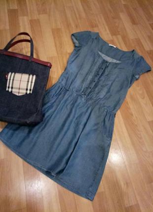 Джинсовое платье promod