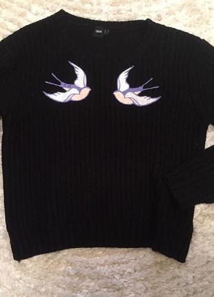 Кофточка свитерок вышивка трендовый asos