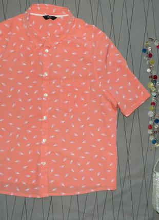 Рубашка с ярким принтом мороженое