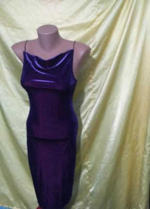 Велюровое платье topshop