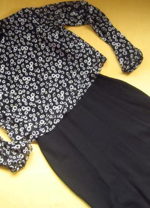 Красивое платье zara с шифоновыми рукавами