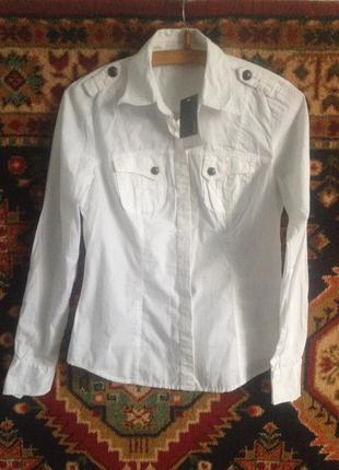 Рубашка белая блуза от mexx