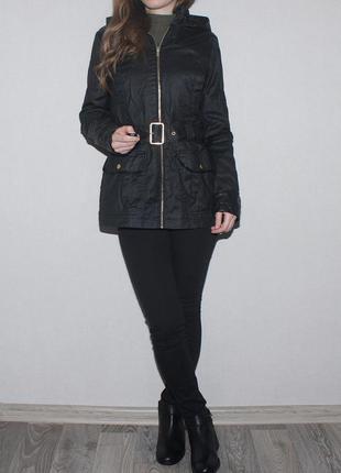 Шикарная курточка с кож элементами, пропиткой, miss selfidge!